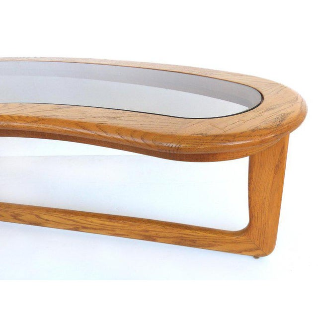 Lane Boomerang Coffee Table.1970s Mid Century Modern Lane Kidney Shaped Boomerang Walnut And Glass Coffee Table