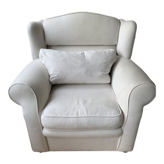 Oversized Upholstered Armchair For Sale