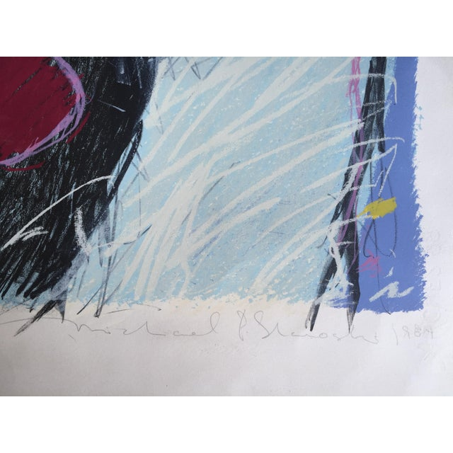 1984 Mixed Media Abstract Figure - Image 8 of 10