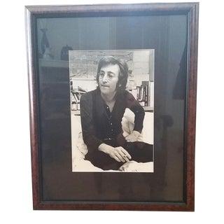 1972 Vintage John Lennon Black & White Gel Photo For Sale