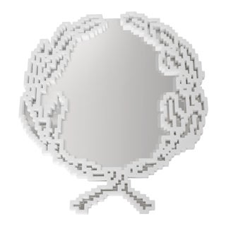 """Michele Chiossi Italian Marble Mirror - 14.9"""" For Sale"""