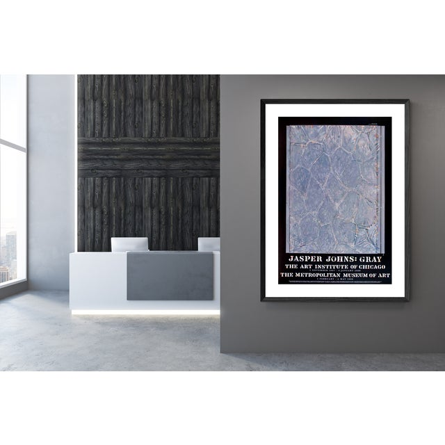 """Jasper johns- within: exhibition poster for """"jasper johns: gray"""" held at the art institute of chicago and the metropolitan..."""