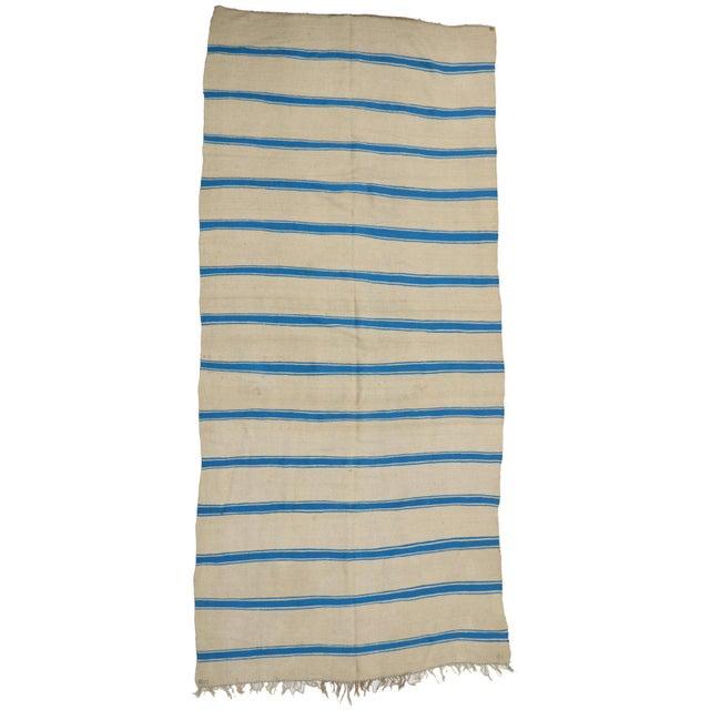 1970s Nautical Striped Kilim Area Rug, Vintage Berber Moroccan Kilim Rug With Stripes, 5'4 X 11'8 For Sale - Image 5 of 5