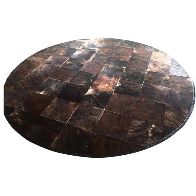 South American Hide Tile Rug - 11′ × 11′ - Image 1 of 4