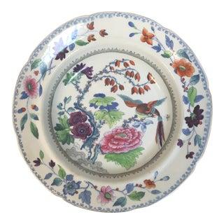 Antique Polychrome Soup Bowl