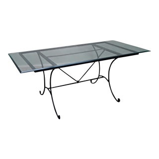 "Charleston Forge 73"" Glass Top Dining Table For Sale"