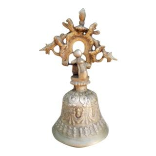 Antique Cast Brass Lahore Door Bell For Sale