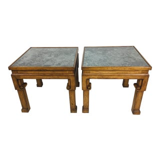 Asian Inspired Side Tables – a Pair For Sale