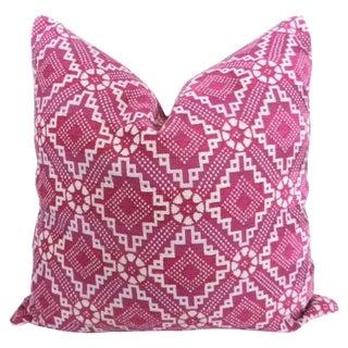 Fuchsia Pink Diamond Patterned Pillow