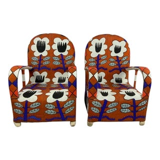Yoruba Beaded Nobility Chairs - a Pair For Sale