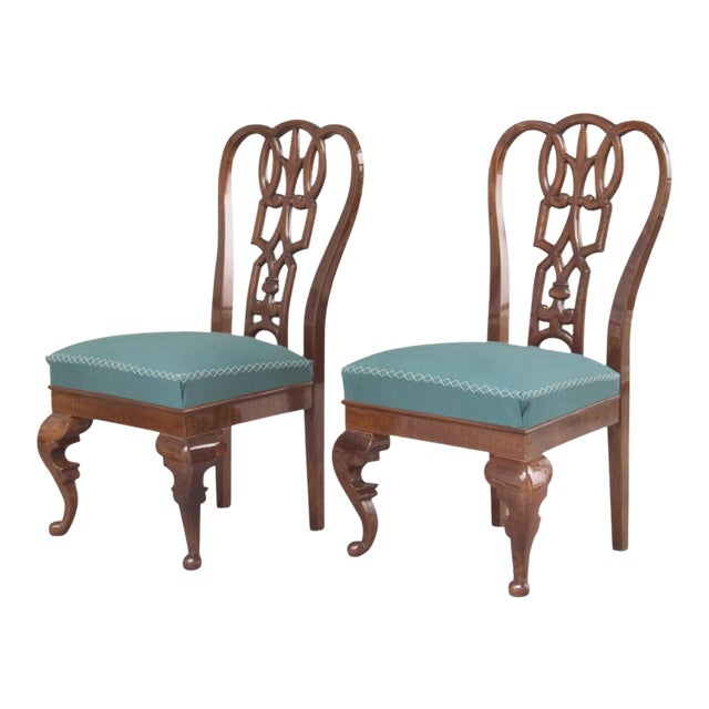 A PAIR OF LAJOS KOZMA AESTHETIC MOVEMENT CHAIRS For Sale
