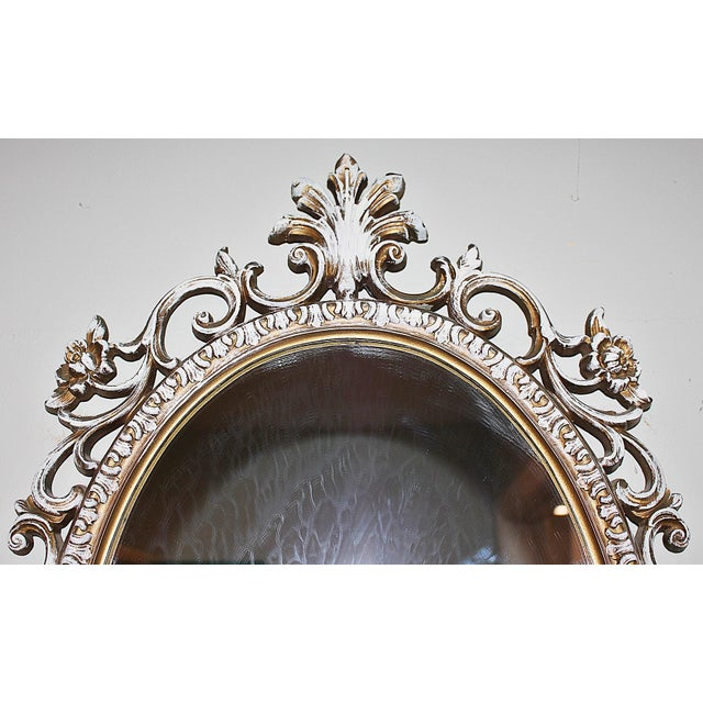 Oval Rococo Mirror For Sale - Image 4 of 5