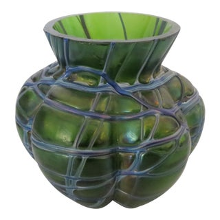 Early 20th Century Antique Art Glass Vase For Sale