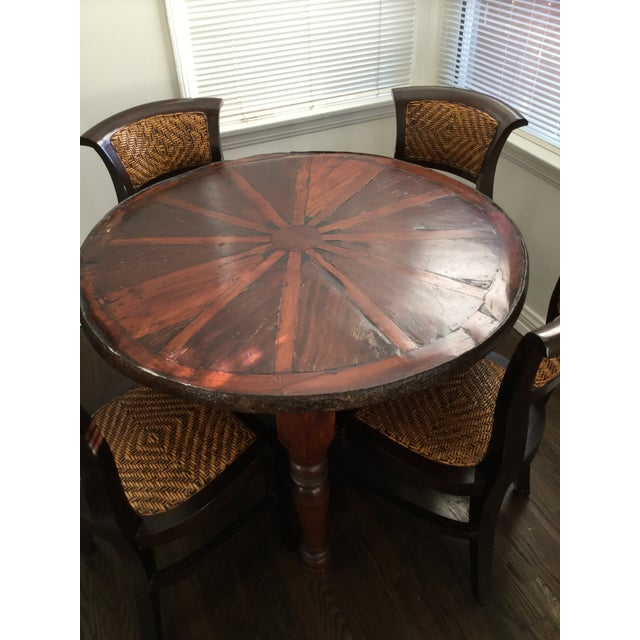 Vintage Style Wooden Dining Set - Image 3 of 7