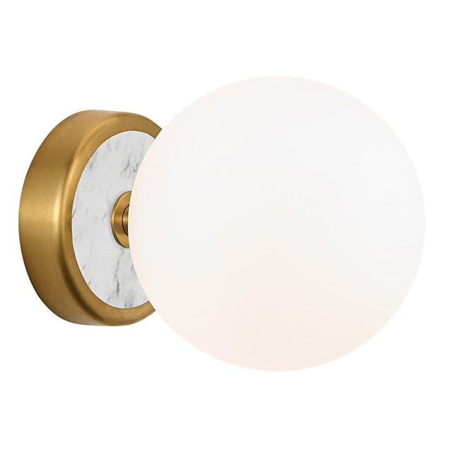 Contemporary Lunar Brass Single Wall Light For Sale - Image 3 of 3