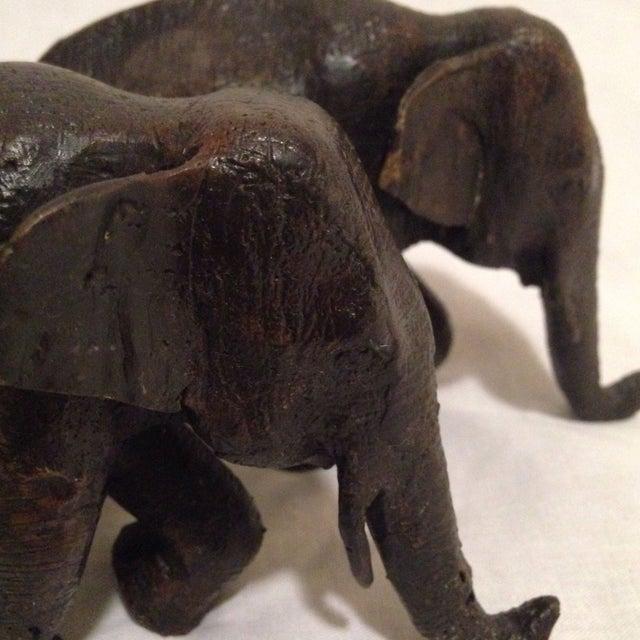 Antique Bronze Elephants - A Pair - Image 5 of 8