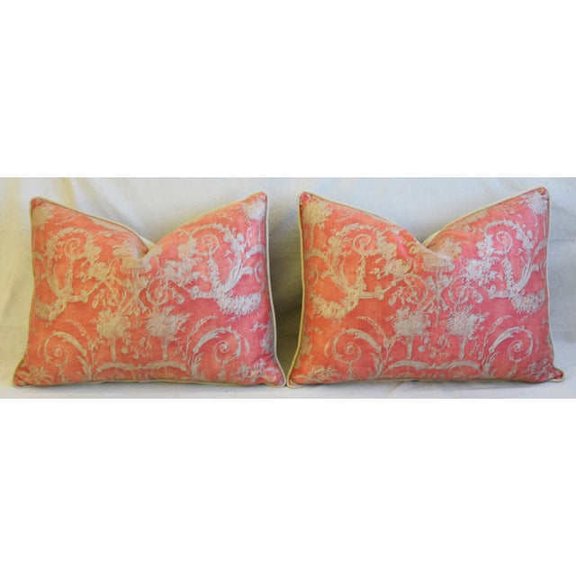 """Italian Fortuny Festoni Feather/Down Pillows 24"""" X 18"""" - Pair For Sale In Los Angeles - Image 6 of 13"""