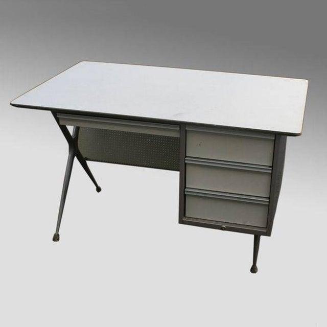 Modern Raymond Loewy Brunswick 4 Drawer Office Desk For Sale - Image 3 of 8