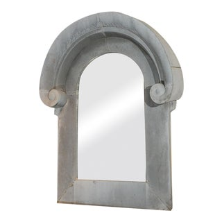 Zinc Architectural Element as a Mirror Frame For Sale