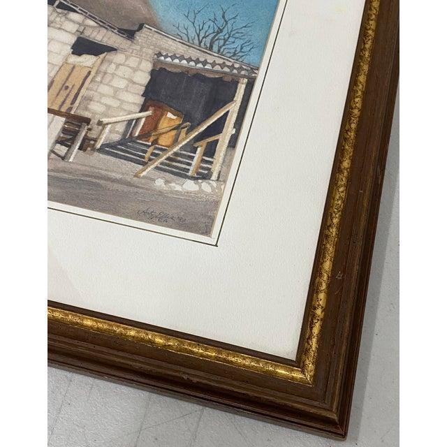 "1980s Art Ellis ""Calico Mine, Joe's Saloon"" Original Watercolor C.1980 For Sale - Image 5 of 12"