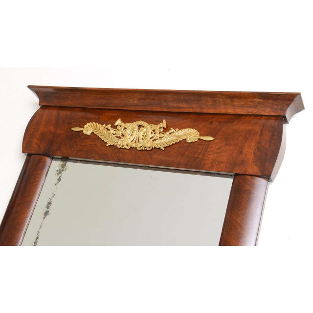 Bronze 19th Century Austrian, Biedermeier Wall-Hung Demi lune Console with Mirror For Sale - Image 7 of 11