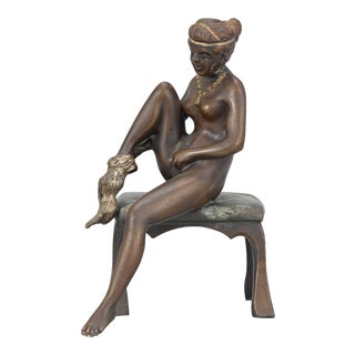 Art Deco Bronze Nude by Bruno Zach For Sale