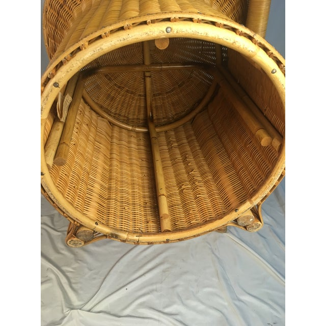 Wood 1980s Vintage Rattan Chairs - a Pair For Sale - Image 7 of 12