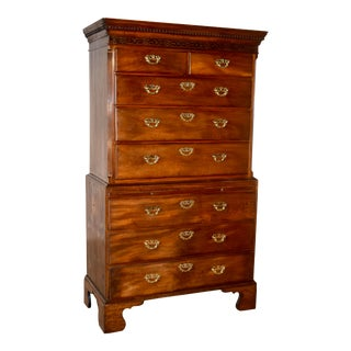 18th Century English Chest on Chest For Sale
