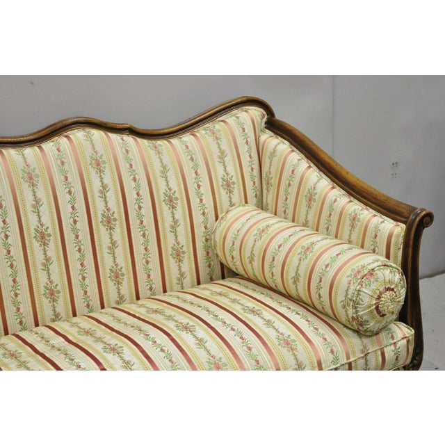 Early 20th C. Vintage French Louis XV Provincial Style Sofa For Sale - Image 4 of 12
