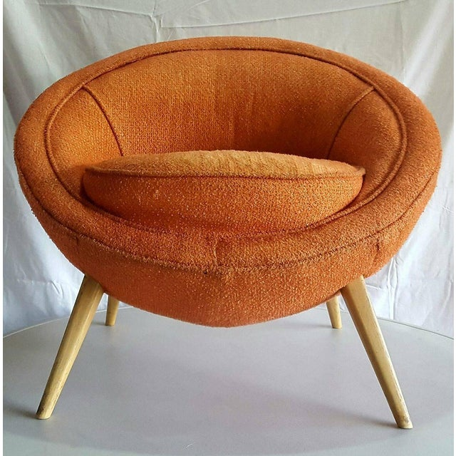 Jean Royere-Style Egg Chair - Image 3 of 5