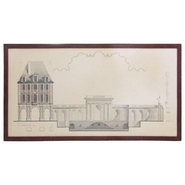 Original Architecture Sketches Drawing Study for Place Des Vosges in Paris For Sale - Image 10 of 10