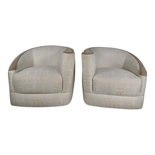 Pair of Vintage Corkscrew Lounge Chairs For Sale