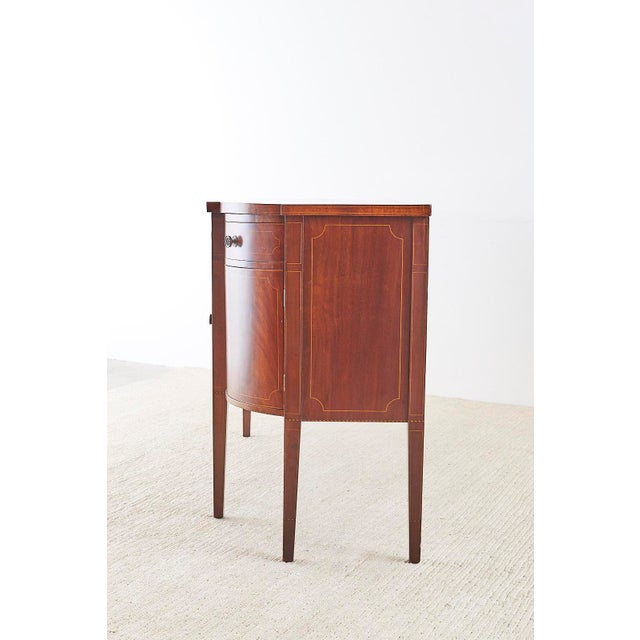 Brown American Federal Mahogany Bow Front Sideboard For Sale - Image 8 of 13