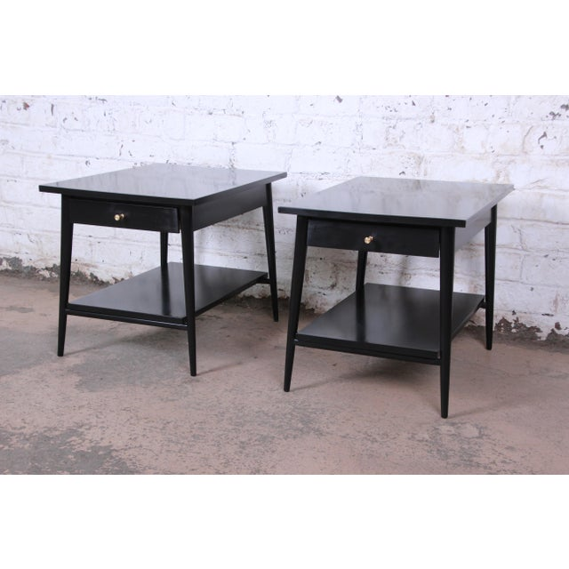 Paul McCobb Paul McCobb Planner Group Ebonized Nightstands or End Tables, Pair For Sale - Image 4 of 13