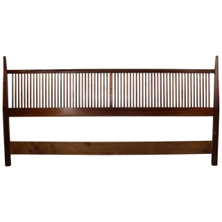 Mid-Century Modern George Nakashima for Widdicomb Slatted King Headboard, 1950s For Sale