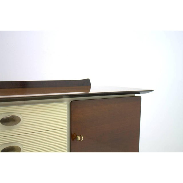 1950s Mahogany and Brass Sideboard, Germany 1950s For Sale - Image 5 of 10
