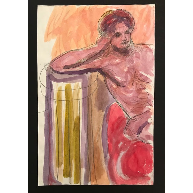 Figurative 1980s Reclining Male Nude Painting by James Bone For Sale - Image 3 of 3