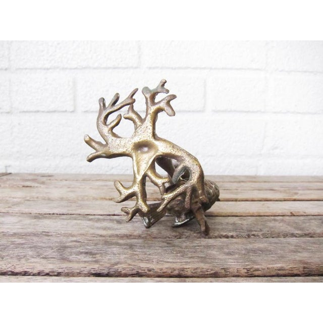 Antique Bronze Bird on Branch Candle Holder For Sale - Image 4 of 9