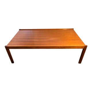Large Mid Century Modern Teak Coffee Table For Sale