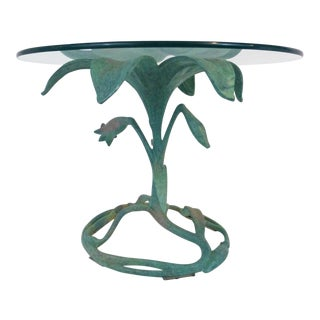 Drexel Arthur Court Green Patina Lily End Table