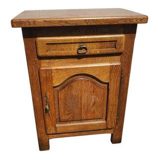 Vintage Oak Cabinet by Nf Meuble For Sale