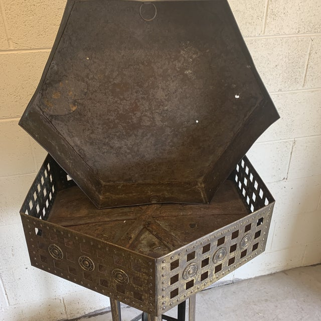 Unusual Medieval Standing Brass Planter or Bar For Sale - Image 12 of 13