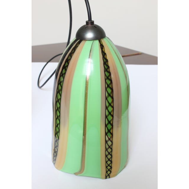 Early 21st Century Oggetti Luce Art Deco Venetian Mouth Blown Glass Pendant Light For Sale - Image 5 of 7