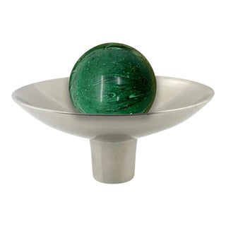 Addison Weeks Gibson Knob, Pewter & Malachite For Sale