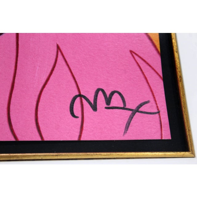 1990s Contemporary Framed Print Snow White Signed Dated Numbered by Peter Max 1990s For Sale - Image 5 of 7