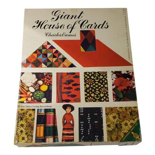 Vintage Giant House of Cards by Charles Eames for Creative Playthings For Sale