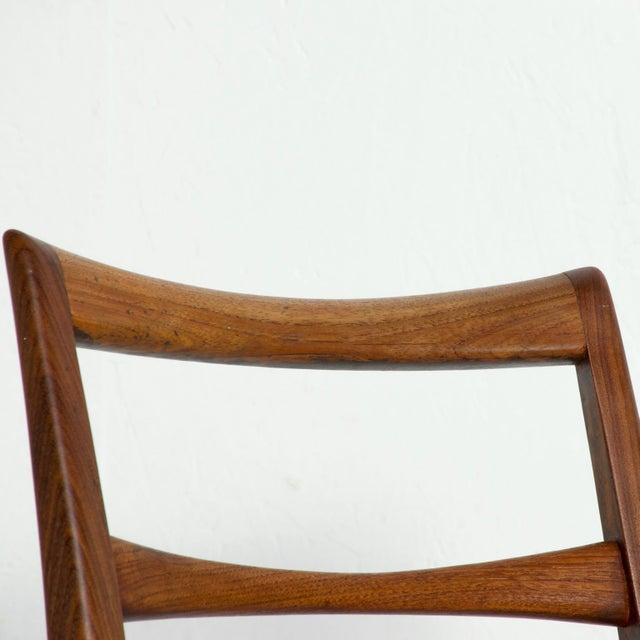 Set of 4 Danish Modern Teak Ladder Back Niels Koefoeds Dining Chairs Hornslet For Sale - Image 9 of 11