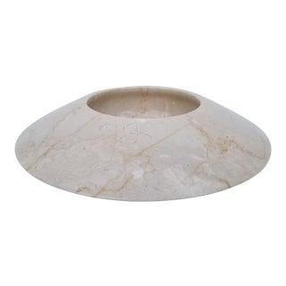 1970s Angelo Mangiarotti Style Italian Marble Bowl For Sale