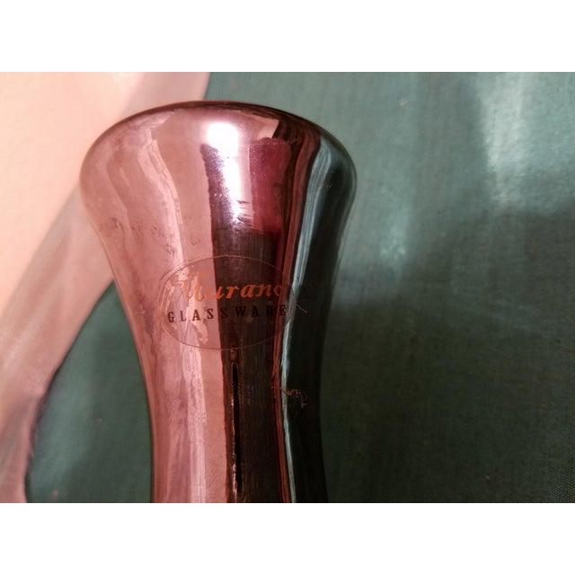 Marani Murano Murano Spagetti Art Glass Modern Vase For Sale - Image 4 of 11