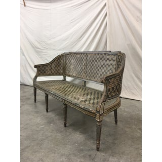 Venetian Three Piece Cane Settee & Two Chairs - 19th C Preview